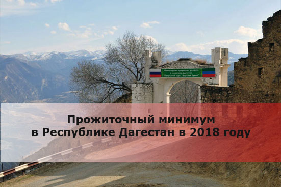 Прожиточный минимум в Республике Дагестан в 2018 году