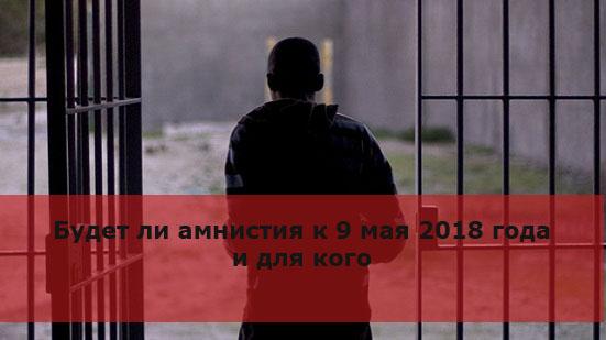 Будет ли амнистия к 9 мая 2018 года и для кого