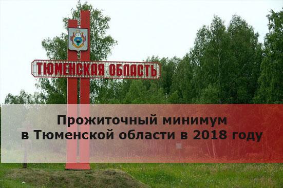 Прожиточный минимум в Тюменской области в 2018 году