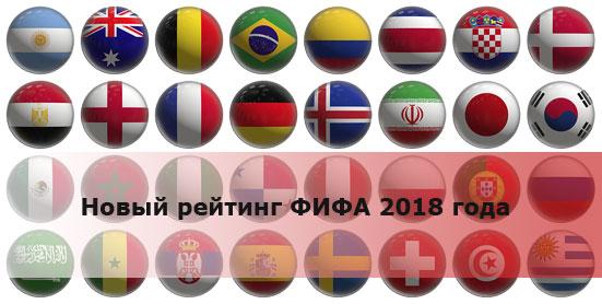 Новый рейтинг ФИФА 2018 года