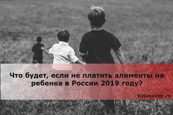 Что будет, если не платить алименты на ребенка в России 2019 году?