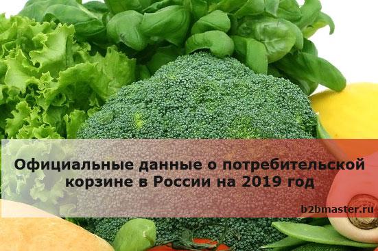Официальные данные о потребительской корзине в России на 2019 год
