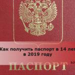 Как получить паспорт в 14 лет в 2019 году