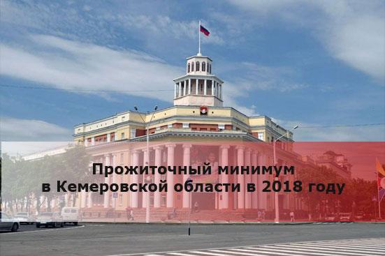 Прожиточный минимум в Кемеровской области в 2018 году