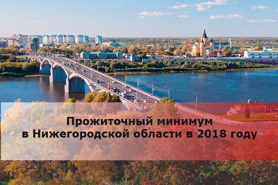 Прожиточный минимум в Нижегородской области в 2018 году
