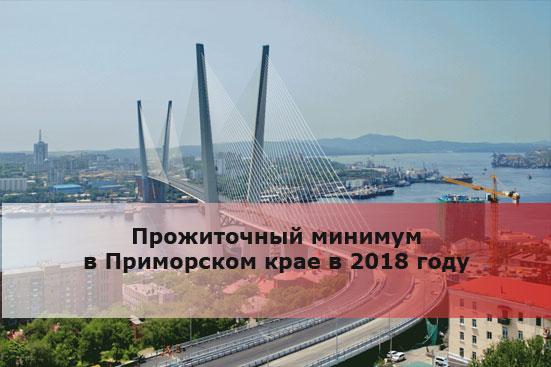Прожиточный минимум в Приморском крае в 2018 году
