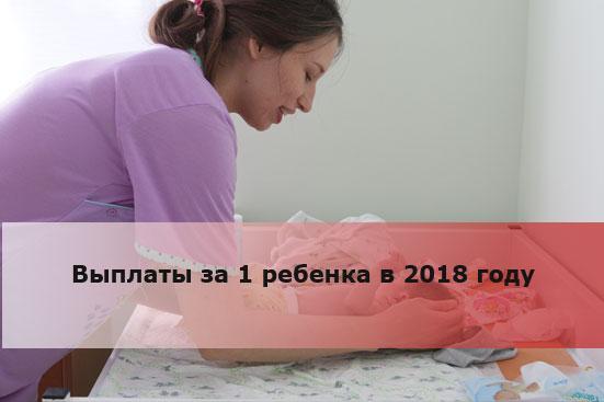 Выплаты за 1 ребенка в 2018 году