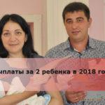 Выплаты за 2 ребенка в 2018 году