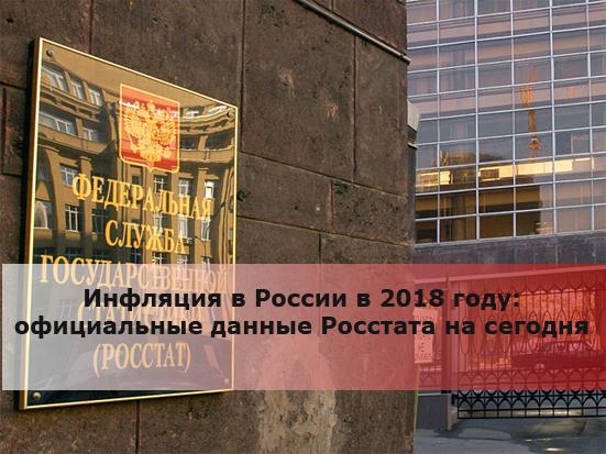 Инфляция в России в 2018 году: официальные данные Росстата на сегодня
