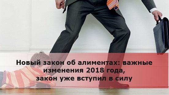 Новый закон об алиментах: важные изменения 2018 года, закон уже вступил в силу