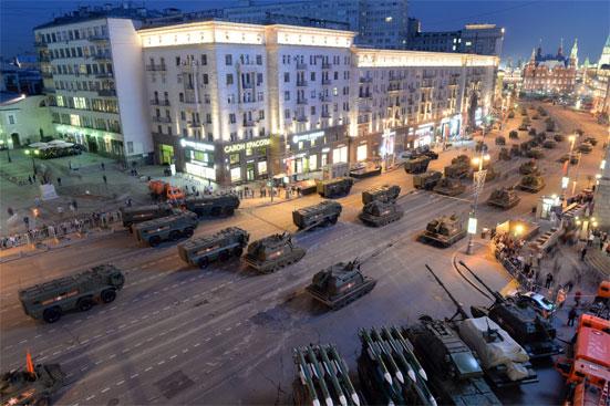 Маршрут движения военной техники на Параде Победы в 2018 году