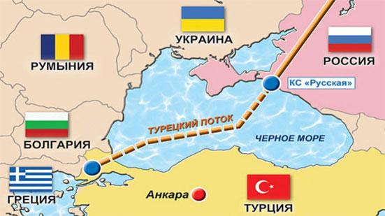 Маршрут второй нитки газопровода «Турецкий поток» сейчас обсуждается