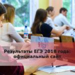 Результаты ЕГЭ 2018 года: официальный сайт