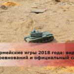 Армейские игры 2018 года: виды соревнований и официальный сайт