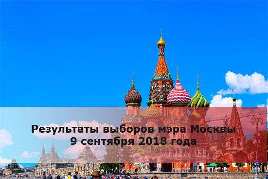 Результаты выборов мэра Москвы 9 сентября 2018 года