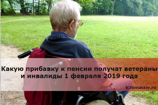 Какую прибавку к пенсии получат ветераны и инвалиды 1 февраля 2019 года