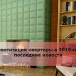 Приватизация квартиры в 2019 году последние новости