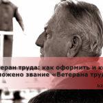 Ветеран труда: как оформить и кому положено звание «Ветерана труда»