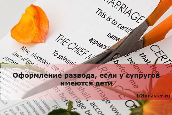 Оформление развода, если у супругов имеются дети
